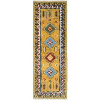 ecarpetgallery Hand-Knotted Royal Kazak Orange Wool Rug (2'10 x 8'1)