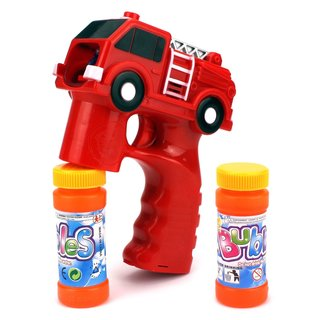 Velocity Toys Rescue Fire Truck Battery-operated Toy Bubble-blowing Gun