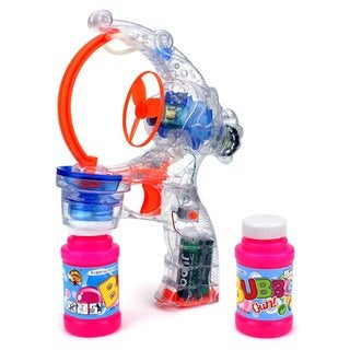 Velocity Toys Clear Sea Fish Battery-operated Bubble-blowing Gun Toy