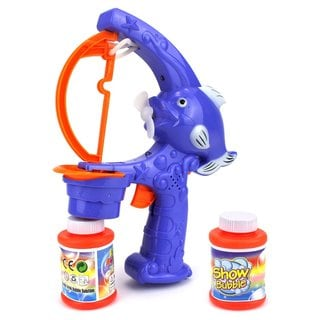 Velocity Toys Cool Cartoon Sea Fish Battery Operated Bubble Blowing Gun Toy