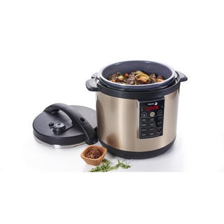 LUX Champagne Stainless Steel 6-quart Multicooker