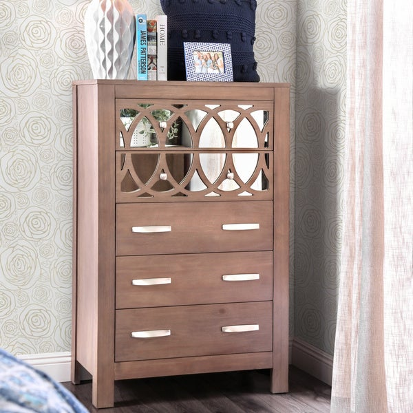 Alessa Contemporary Rustic Natural Tone 5-drawer Chest by FOA