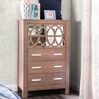 Furniture of America Alessa Contemporary Mirrored Rustic 5-drawer Chest