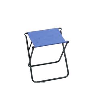 Light Blue Polyester Backless Folding Sports Chair