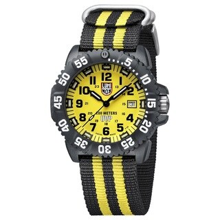 Luminox 3955.SET Scott Cassell Yellow Dial Carbon Reinforced Case Mens Watch