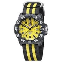 cb495d138c6 Luminox 3955.SET Scott Cassell Yellow Dial Carbon Reinforced Case Mens Watch  - Black