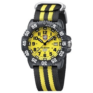 Luminox 3955.SET Scott Cassell Yellow Dial Carbon Reinforced Case Mens Watch - Black