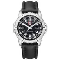 Luminox Black Dial Stainless Steel Leather Quartz Men's Watch 6251