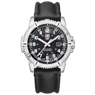 Luminox Black Dial Stainless Steel Leather Quartz Men's Watch 6251