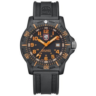 Luminox Black Ops Carbon Series Orange Dial Black Polyurethane Mens Watch 8819.GG