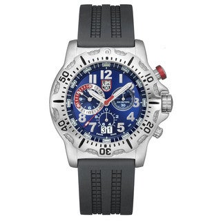 Luminox Dive Chronograph Blue Dial Black Rubber Mens Watch 8153.RP
