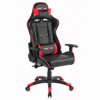 Racer Style Height Adjustable Sport Office PC Gaming Chair Red