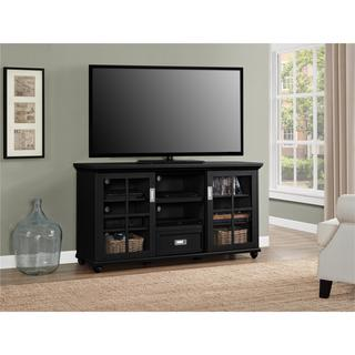Ameriwood Home Aaron Lane Black 55-inch TV Stand