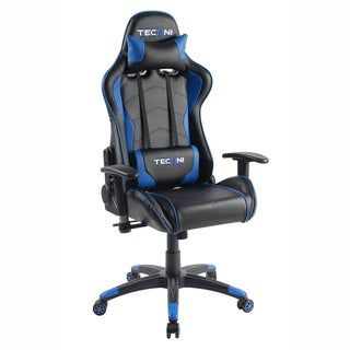 Racer Style Height Adjustable Sport Office PC Gaming Chair Blue