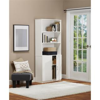 Ameriwood Home Moberly White Bookcase with Doors