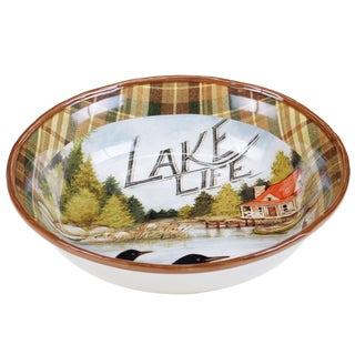 Certified International Lake Life Ceramic 13-inch Serving/Pasta Bowl