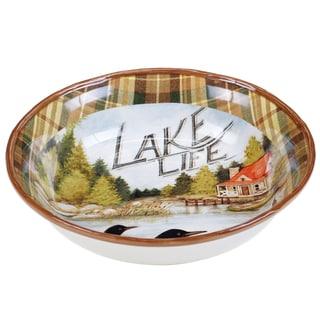 Certified International Lake Life Ceramic 13-inch Serving/Pasta Bowl