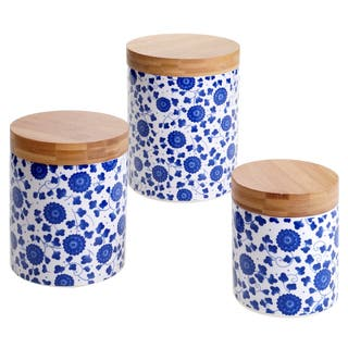 Buy Blue Kitchen Canisters Online at Overstock | Our Best ...