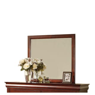 Louis Philippe III Cherry Rectangle Wall Mirror