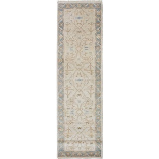 ecarpetgallery Hand-Knotted Royal Ushak Blue, Yellow Wool Rug (2'8 x 11'9)