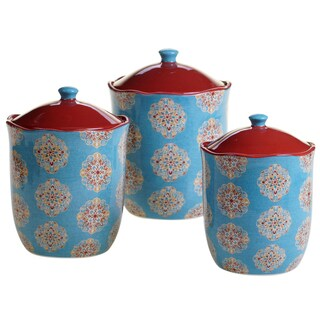 Certified International Spice Route 3-piece Canister Set