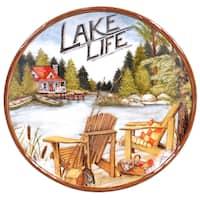 Certified International Lake Life 13-inch Round Platter