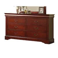 Louis Philippe III Cherry 6-drawer Dresser