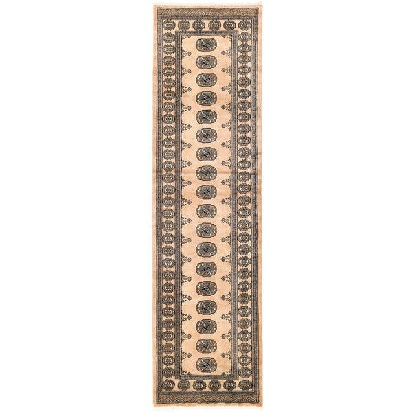 Handmade Herat Oriental Pakistani Bokhara Wool Rug (Pakistan) - 2'7 x 9'9