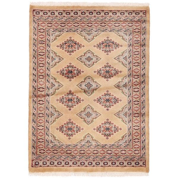 Handmade Herat Oriental Pakistani Bokhara Wool Rug (Pakistan) - 2'8 x 3'8