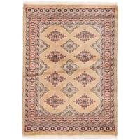 Handmade Herat Oriental Pakistani Bokhara Wool Rug - 2'8 x 3'8 (Pakistan)