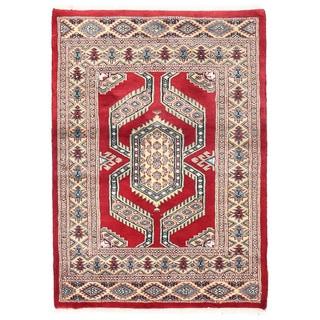 Herat Oriental Pakistani Hand-knotted Bokhara Wool Rug (2'7 x 3'8)