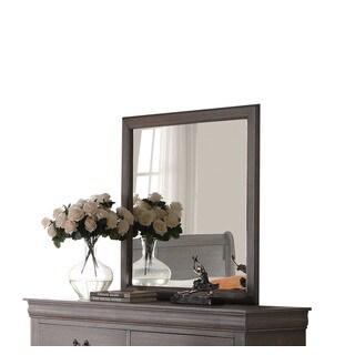 Louis Philippe III Antique Grey Mirror