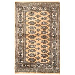 Herat Oriental Pakistani Hand-knotted Bokhara Wool Rug (3'1 x 4'11)
