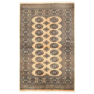 Herat Oriental Pakistani Hand-knotted Bokhara Wool Rug (3'3 x 5'4)