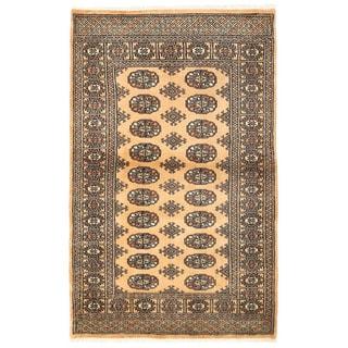Herat Oriental Pakistani Hand-knotted Bokhara Wool Rug (3'4 x 5'4)