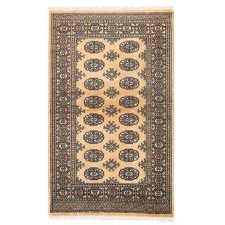 Herat Oriental Pakistani Hand-knotted Bokhara Wool Rug (3'2 x 5'1)