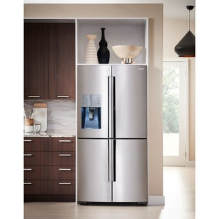 Samsung Black and Silver 36-inch Counter Depth 4-door Refrigerator