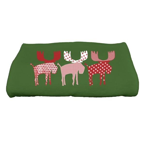 28 x 58-inch, Merry Moose, Animal Print Bath Towel