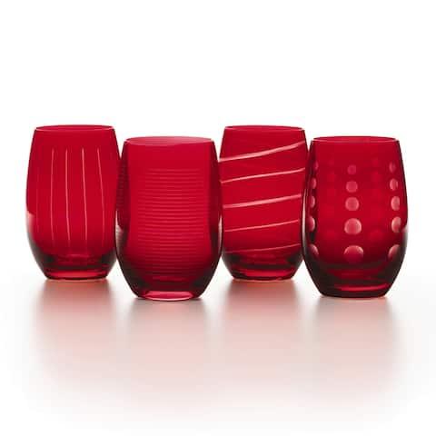 Mikasa 'Cheers' 16.5 oz. Ruby Stemless Wine Glass (Set of 4)