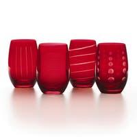 Mikasa Cheers Ruby Stemless Wine Glass (Set of 4)