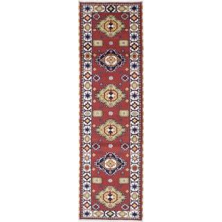 ecarpetgallery Hand-Knotted Royal Kazak Orange Wool Rug (2'9 x 9'9)