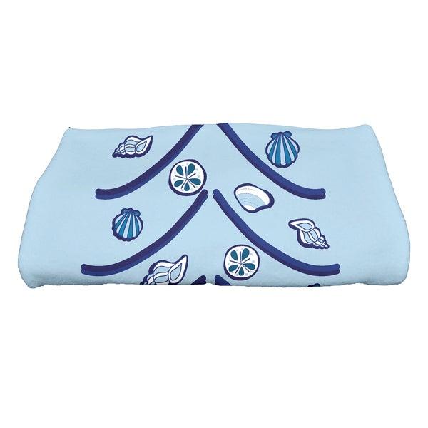 28 x 58-inch, Sand Tree, Geometric Print Bath Towel