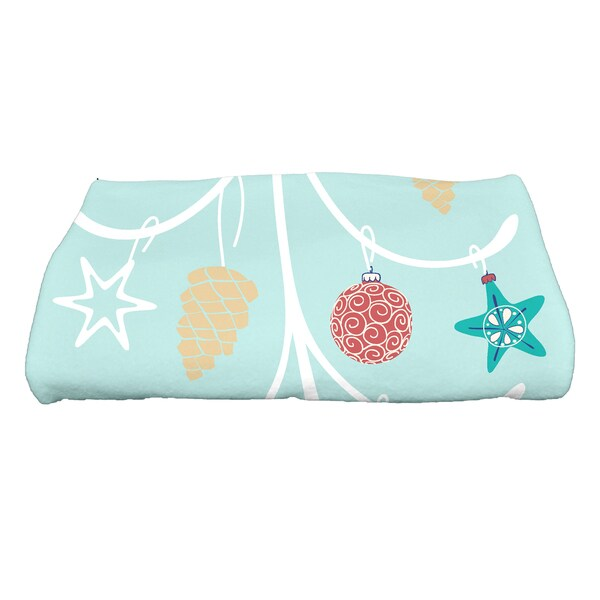 28 x 58-inch, Pinecone Tree, Geometric Print Bath Towel