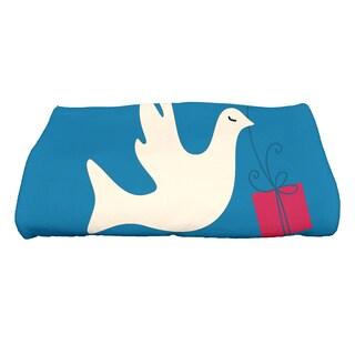 28 x 58-inch, Peace Dove, Animal Print Bath Towel