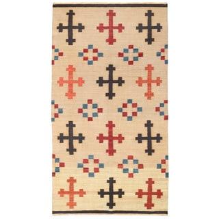 Herat Oriental Afghan Hand-woven Wool Kilim (5'5 x 10'2)