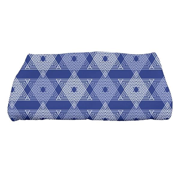 28 x 58-inch, Star Light, Geometric Print Bath Towel