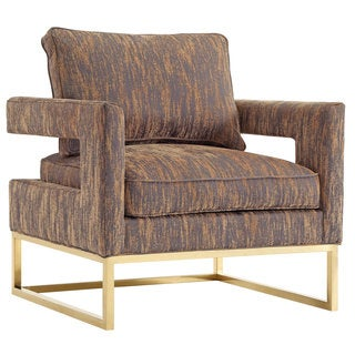 Avery Gold Textured Velvet Accent Chair