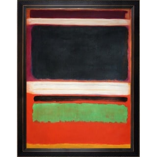 Mark Rothko 'No. 3, No. 13 Magenta, Black, Green on Orange, 1949' Hand Painted Framed Canvas Art