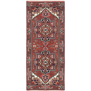 ecarpetgallery Hand-Knotted Serapi Heritage Red Wool Rug (2'7 x 6'0)