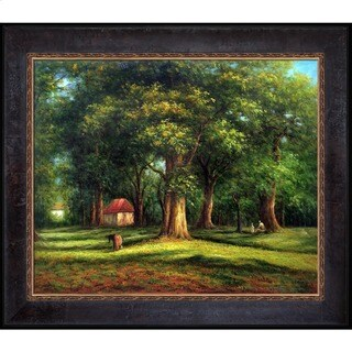 Camille Pissarro 'The Forest' Hand Painted Framed Canvas Art